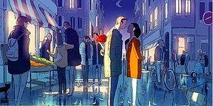 26 иллюстраций от французского художника, показывающих, как выглядят отношения, наполненные нежностью и любовью