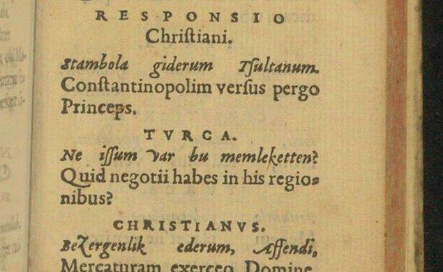 Aşağıdaki diyalog öncesinde Türk, Hristiyan'a nereye gittiğini sorar.