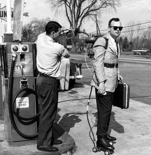 Kaliforniya'da bir motorlu paten, 1961.