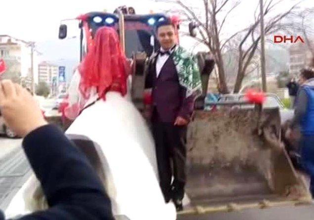 6. En güzel düğün aracı...