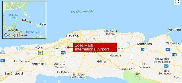 Uçağın ülkenin doğusundaki Holguin'e uçmak için havalandığı aktarıldı. Uçakta 104 yolcu ve 9 mürettebat olduğu belirtildi.