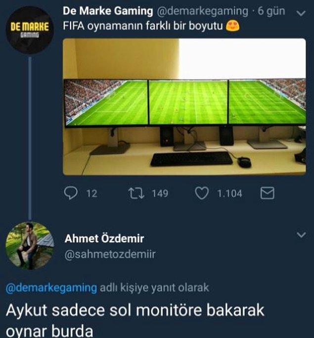 3. Aykut Kocaman'a sol ekran yetiyor. :)