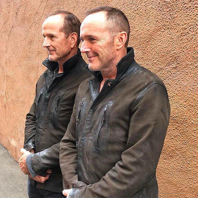 12. Clark Gregg (Phil Coulson) ve dublörü Dane Farwell:
