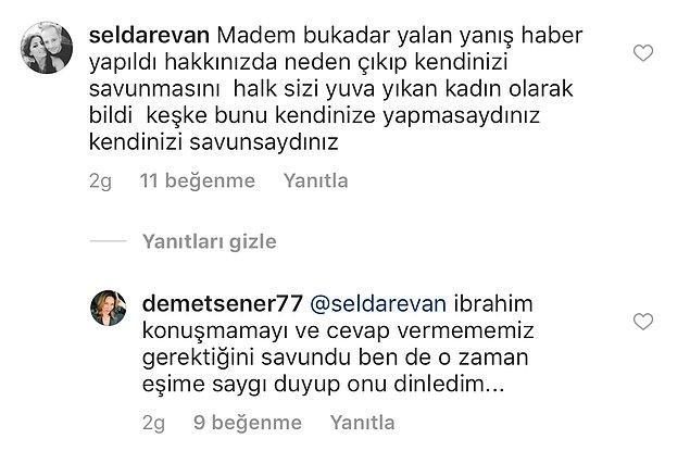 Neden sustuğunu da böyle açıkladı Demet Şener!
