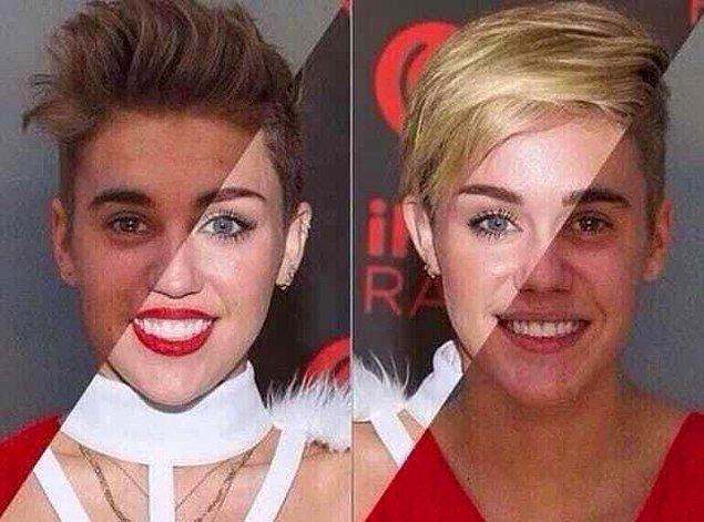 22. Miley Cyrus ve Justin Bieber