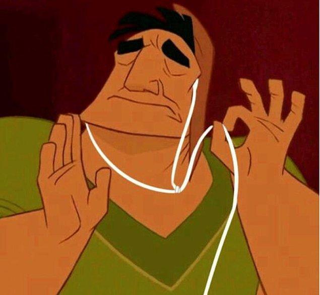 12. Kulaklığın bozukken sesin çıkabildiği doğru pozisyonu bulduğunda;