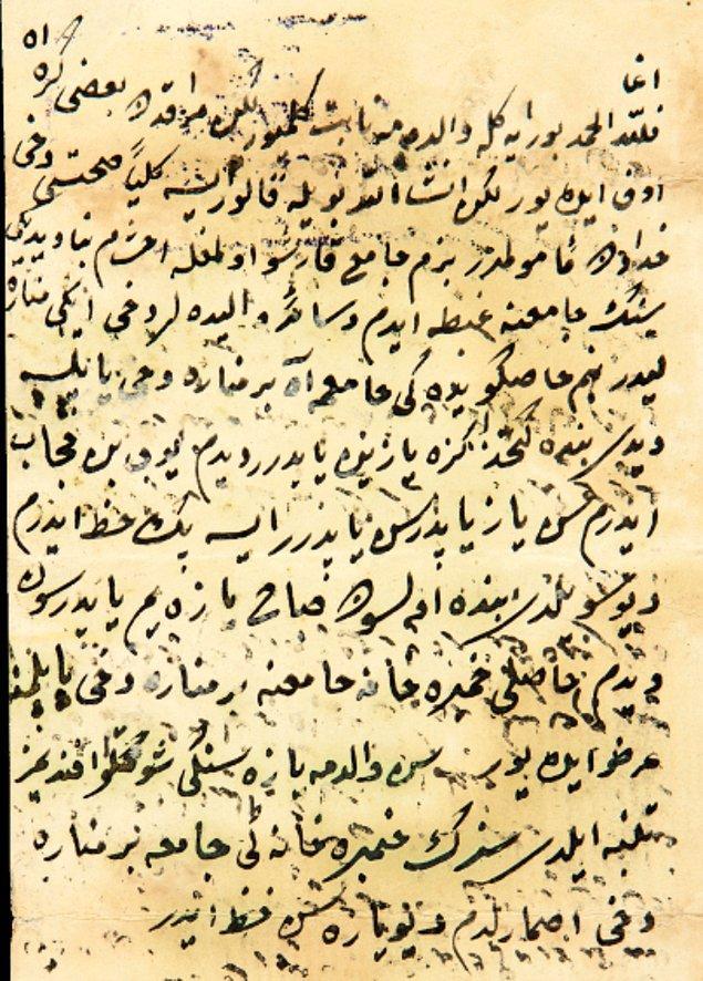 Hasköy'de annesinin adına yapılan camiye bir minare ilave edilmesi hakkında III. Selim'in emri: