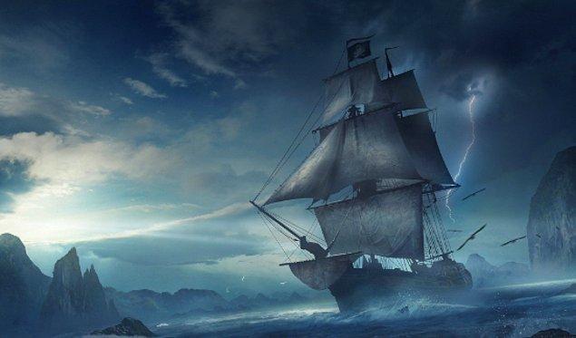 """2. """"Korsanlar bıçaklarıyla yelkeni keserek düşüşlerini yavaşlatabilirler."""""""