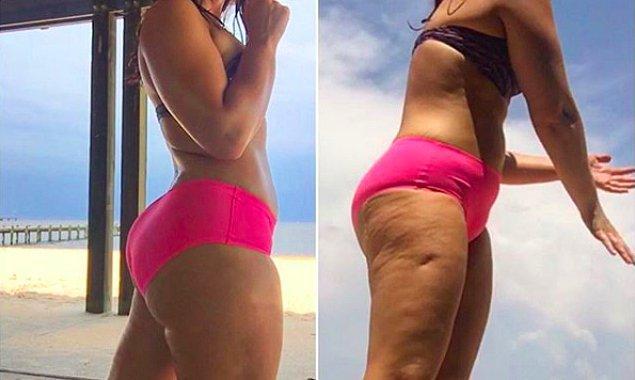 Instagram modeli, fitness tutkunu Tesia Kline paylaşımlarıyla bazı tabuları devirmek için uğraşıyor.