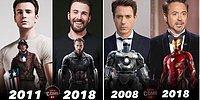 """Подборка героев Marvel """"Тогда и сейчас"""", которая заставит вас почувствовать себя старым"""