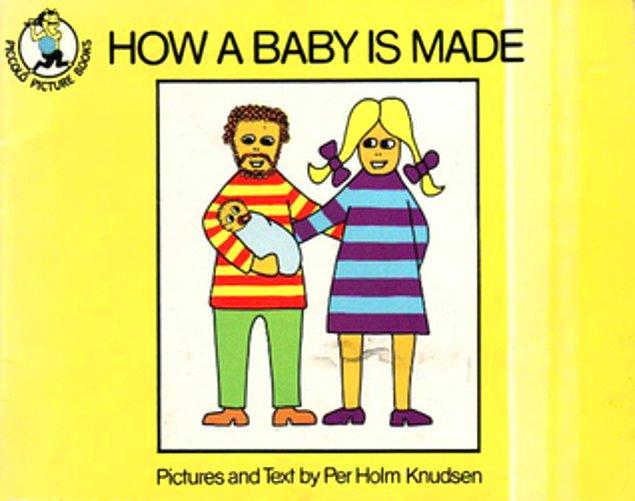 """Danimarkalı yazar ve psikoterapist Per Holm Knudsen, 1970'li yıllarda çocuklara cinsel eğitimin bir parçası olarak """"Bebek Nasıl Yapılır?"""" kitabını yazdı."""