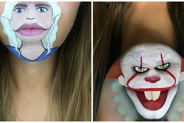 Визажист превращает свои губы в известных персонажей - на результат стоит посмотреть!