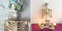 """Надоели до смерти: Инстаграм-скелет высмеивает одинаковые фото """"модных"""" девушек"""