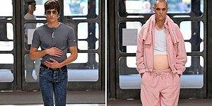 """Поудивляться: Странное дефиле в Лондоне с """"беременными"""" моделями мужского пола"""