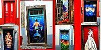 Галерея на открытом воздухе: португальские художники расписали дверь каждого дома в Фуншале