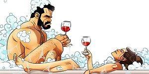 Художник продолжает радовать забавными иллюстрациями о своей весёлой жизни с супругой