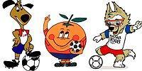 Лев, перчик, петух, апельсин: как выглядели талисманы прошлых чемпионатов мира по футболу?