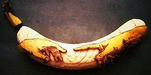 Талантливый художник превращает бананы в произведения искусства