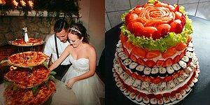 Торты-суши и капкейки из лазаньи. Отличная альтернатива свадебному торту для тех, кто не любит сладкое