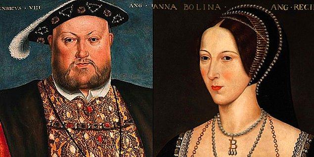 6. VIII. Henry, evlenmeden önce Anne Boleyn'e bir erkeğin unvanını verdi. Pembroke Marki'si ilan edilen Anne'in aslında 'markiz' olması gerekirdi.