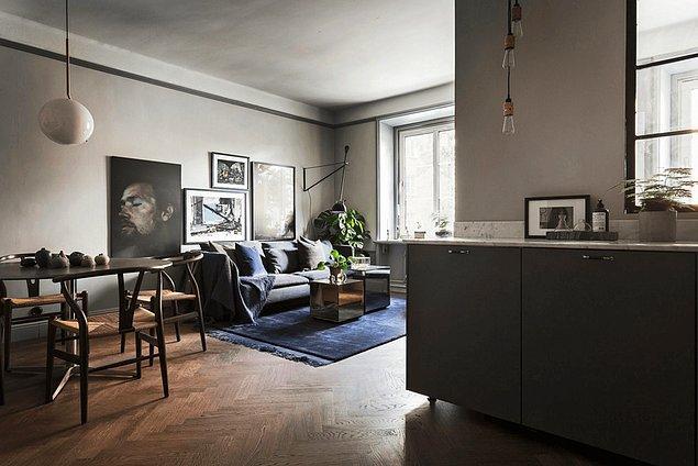 26. Daha sıcak tonlarda kullanılan gri, evinizi daha konforlu ve sıcak bir yere dönüştürebilir.