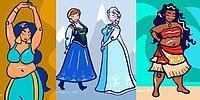 Художница нарисовала принцесс Диснея в стиле плюс сайз, чтобы поддержать идею бодипозитива в фильмах для детей 😍