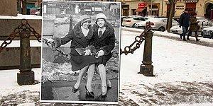 Соединяя фото 20-го века с современными достопримечательностями, фотограф будто создал машину времени