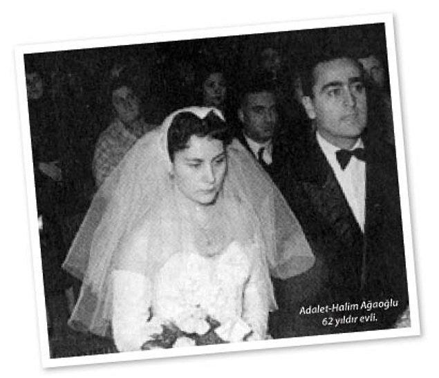 15 Aralık 1954'de Ankara'da Büyük Aşkım, Türk Edebiyatının en önemli yazarlarından ADALET AĞAOĞLU ile evlendim. 64 yıllık Eşim benim en büyük gururum oldu.