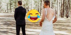 Невеста разыграла жениха, послав вместо себя брата в свадебном платье. Реакция новобрачного просто бесценна!
