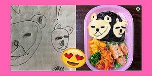 """Папа из Японии превращает рисунки дочери во вкусные обеды и """"ссобойки"""""""