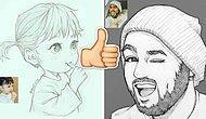 Иллюстратор создаёт скетчи реальных людей в виде мультяшных персонажей, а люди поражаются сходству!
