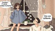 Художница-самоучка из Казахстана показывает будни влюбленных в теплых иллюстрациях