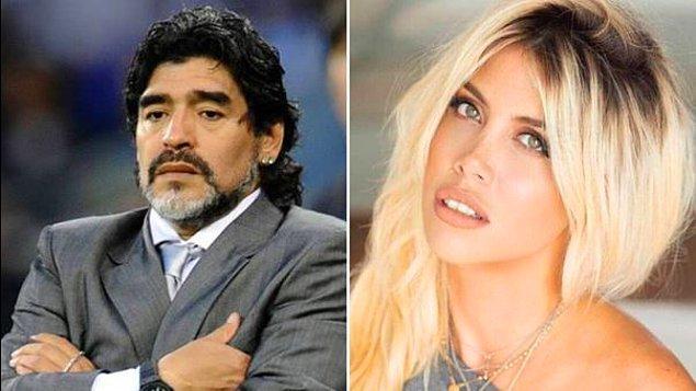 İkili yeniden gündeme geldi ve Maradona ile Wanda Nara'nın bir otelde sabaha kadar seviştikleri iddia edildi.