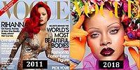 Звезды на своих первых и самых недавних обложках «Vogue»