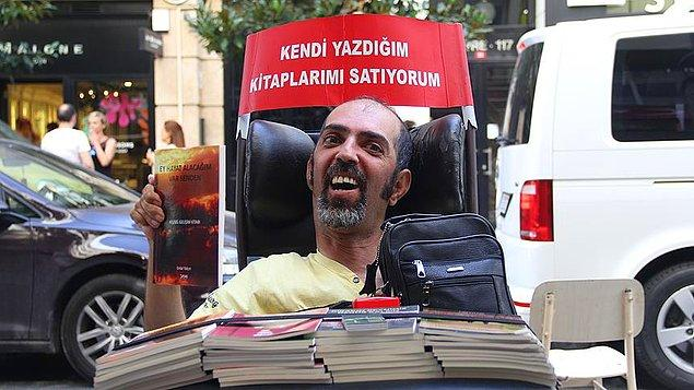 2004 yılında kitap yazmaya başlayan Yalçın, çeşitli fuar ve kermesler ile İstanbul'un birçok noktasında kitaplarını  kendisi satıyor.
