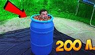 Работает ли закон Архимеда для орбизов? Сколько шариков вытеснит, если прыгнуть в бочку с ними?