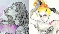 Дерзкие иллюстрации, раскрывающие темные женские секретики