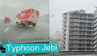 """Кадры смертоносного тайфуна """"Джеби"""" в Японии, который стал самым мощным за 25 лет"""