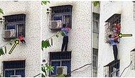 A Man Risked His Own Life To Save A Hanging Baby From A Window!