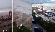Жуткие кадры цунами в Индонезии, случившегося после землетрясения 7,5 баллов