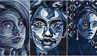Турчанка создает портреты из джинсовой ткани: если вы думаете, что это легко, попробуйте сделать сами!