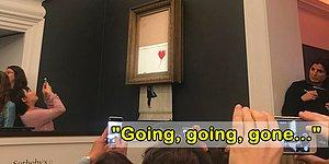 We've All Been Banksy'ed! Banksy's Painting Self-Destructed After Sold For $1.4 Million!