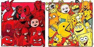 Гениальная идея: художница распределила по цветам известных нам с детства персонажей, какие команды получились?