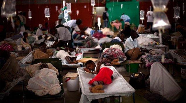 20. 6.631 kişi - Haiti Kolera Epidemisi (2011 - ...)