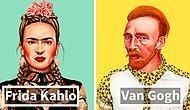 Как выглядели бы известные художники, если бы они были хипстерами