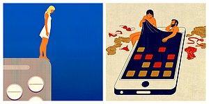 Итальянский художник использует визуальные парадоксы и метафоры для создания иллюстраций о современном мире