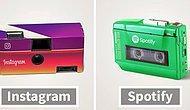 Вот как выглядели бы популярные приложения, если бы они появись в 80-е годы