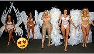 Dropped Right Off Heaven! Kardashian Sisters Dress Up As Victoria's Secret Angels!