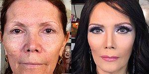"Моложе на 50 лет за пару часов: визажист из Баку ""стирает"" возраст с помощью макияжа"