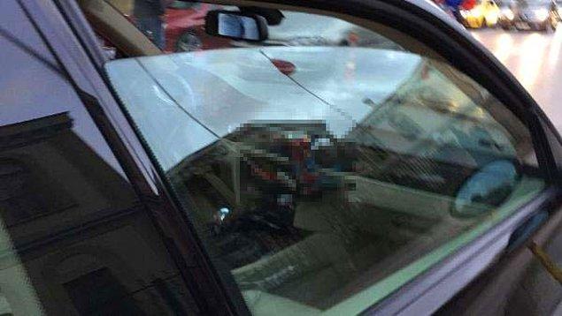 Kaza yapan otomobilin ön kısmında bira kutusunun yer alması da dikkat çekti.